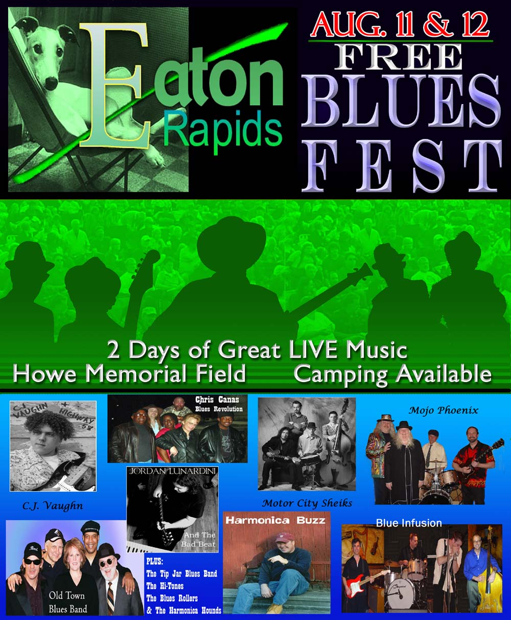 2006 Bluesfest Poster for Eaton Rapids